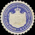 Siegelmarke Gr. Mecklb. Strelitz. Ministerium Abt. Justiz u. s.w. W0391427.jpg
