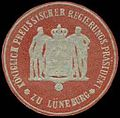 Siegelmarke Königlich Preussischer Regierungs Präsident zu Lüneburg W0239925.jpg