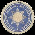 Siegelmarke K.Pr. Commando des Cadetten-Corps W0345166.jpg