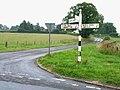 Signpost near Heads Nook - geograph.org.uk - 207735.jpg