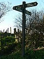 Signpost on the Leeds Country Way, Hunger Hills, Horsforth - geograph.org.uk - 289026.jpg