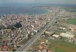 Silivri and highway D.100 from air
