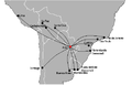 Silvio Pettirossi International (ASU) destinations.PNG