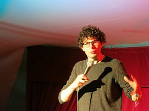 Simon Amstell - Simon Amstell performing at Queens' College May Ball, 2013