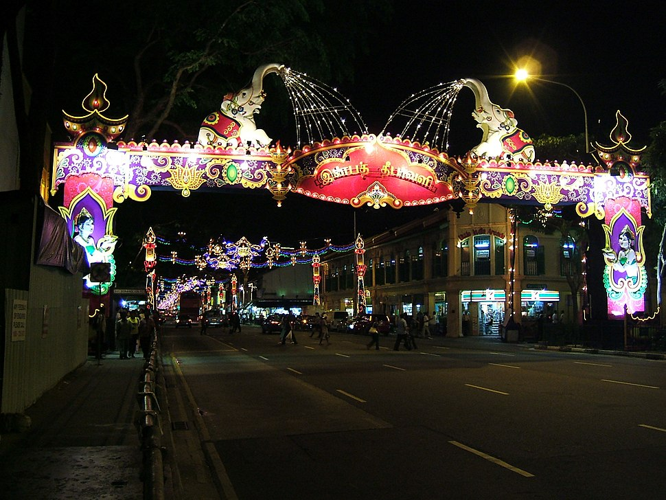 Singapore Divali Diwali decorations Little India- Serangoon Road 2009.jpg
