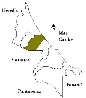 Siquirres (canton) - Siquirres canton in Limón province