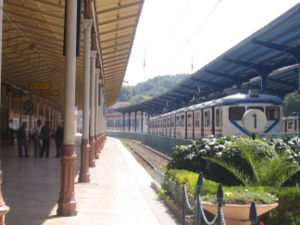 Sirkeci railway station - Railroad tracks of the Sirkeci terminal.