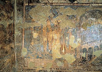 Painting of the Six Kings - Painting of the Six Kings, with visible damage