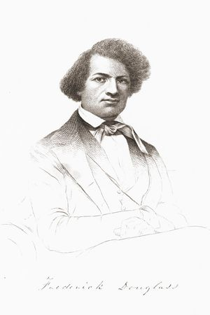 A sketch of Douglass, from the 1845 edition of...