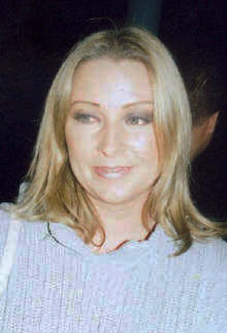 Ace of Base - Linn of Ace of Base after a performance in 2002