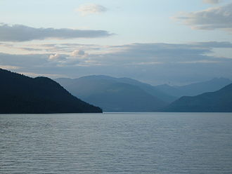 Slocan Lake - as seen from Bannock Point