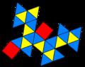 Snub square antiprism net snubcoloring.png