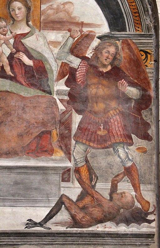 Sodoma, Madonna col Bambino, gli arcangeli michele e Raffaele, e un donatore, 03