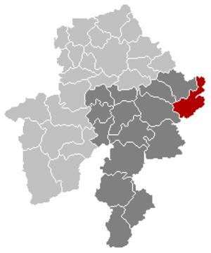 Somme-Leuze - Image: Somme Leuze Namur Belgium Map