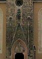 Sopron Kecsketemplom portal with coat of arms Gaissel.jpg