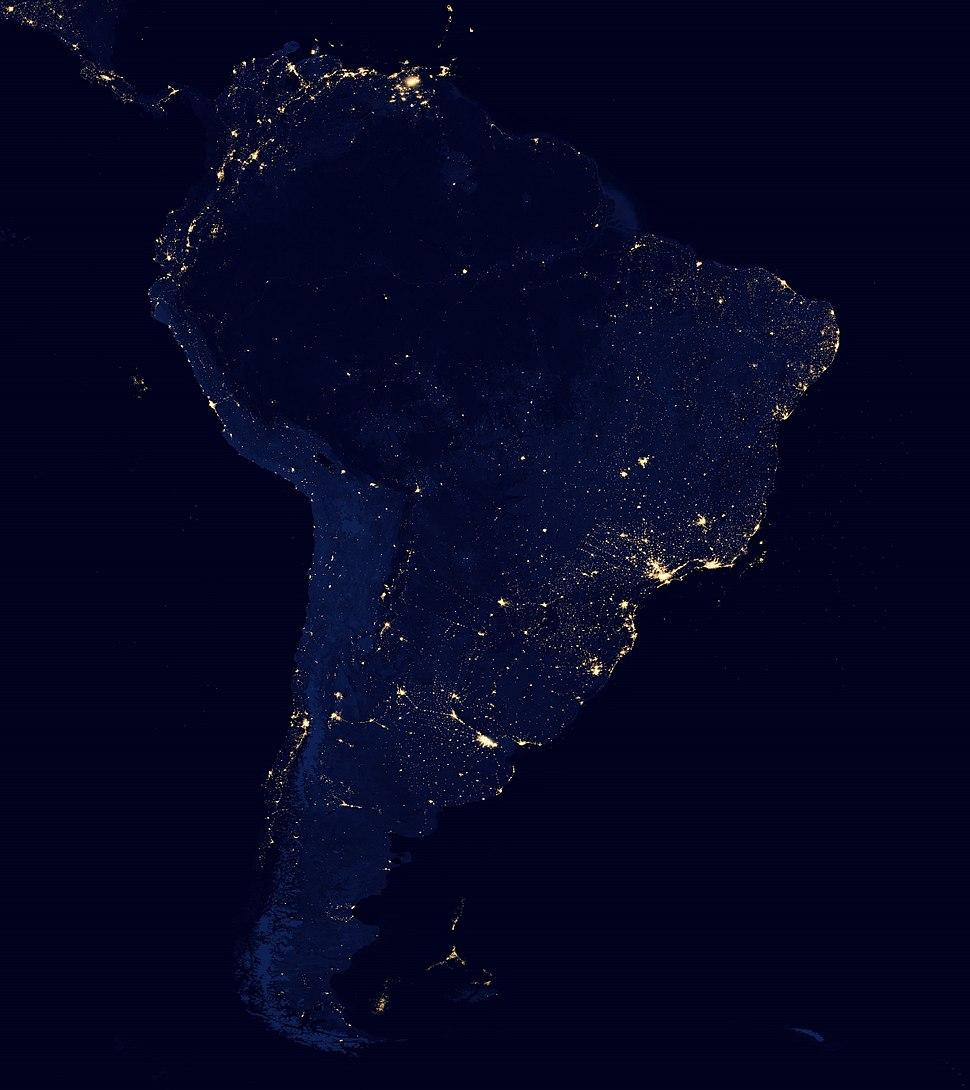 South America night