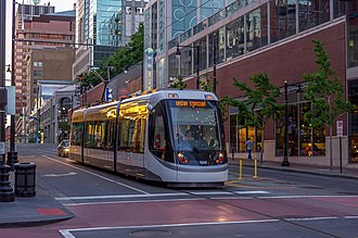 KC Streetcar - Streetcar 804 heading southbound on Main Street