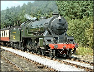 LSWR S15 class - 825 approaching Levisham Station on the North Yorkshire Moors railway