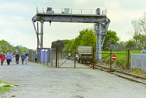 Southminster railway station - Southminster nuclear flask transhipment facility, 2002
