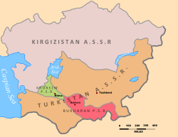 Location of Turkestan ASSR