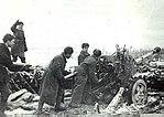Soviet artillerymen firing at fortifications Nikopol 1944.jpg
