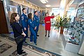 Soyuz MS-12 crew during a tour of the Baikonur Cosmodrome Museum.jpg