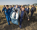 Soyuz TMA-08M Chris Cassidy shortly after landing.jpg