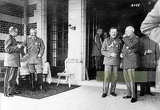 Spa, Belgium - 1918 surrender conference.