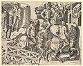 Speculum Romanae Magnificentiae- Roman Horsemen Crossing a Bridge (from Trajan's Column) MET DP820285.jpg