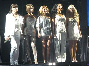 Mama (Spice Girls song) - The Spice Girls holding hands, about to perform the song at the Mandalay Bay Events Center in Las Vegas, Nevada, during the Return of the Spice Girls tour.