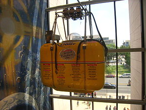 Steve Fossett - The Spirit of Freedom balloon gondola on display