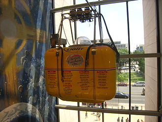 Steve Fossett - The Spirit of Freedom balloon gondola on display at the National Air and Space Museum
