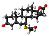Spironolactone 3D ball.png