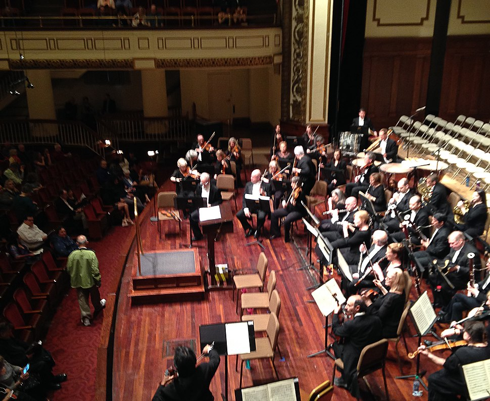 Springfield Symphony Orchestra before concert