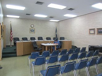 Springhill, Louisiana - Springhill City Council chamber