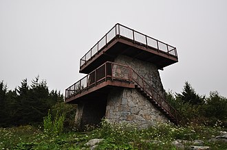 Spruce Knob - The lookout tower atop Spruce Knob, West Virginia.