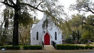 National Register of Historic Places listings in Decatur County, Georgia - Image: St. John's Episcopal Church, Bainbridge, GA