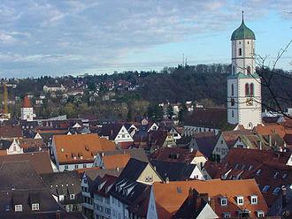 Battle of Biberach (1800) - St. Martin's Church in the old town of Biberach