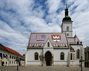 English: St. Mark's Church, Zagreb, Croatia