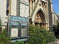 St Matthias Church Richmond Greater London front noticeboard.jpg