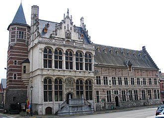 Siege of Zoutleeuw - Town hall and cloth hall of Zoutleeuw in 2005.