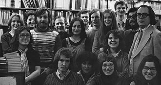 Book trade in the United Kingdom - Image: Staff of the Economists Bookshop, 1976