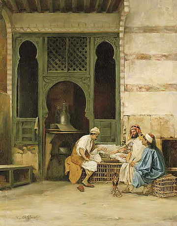 Chess Players, Cairo by Stanislaw Chlebowski (1835-1884) Stanislaw Chlebowski - Chess Players.jpg