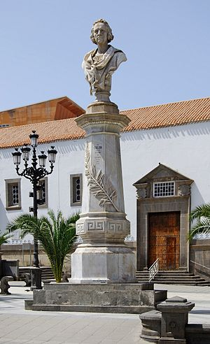 English: Statue of Christopher Columbus at Las...