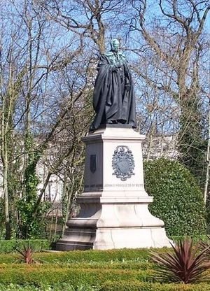 John Crichton-Stuart, 3rd Marquess of Bute - Statue of the 3rd Marquess of Bute in the Friary Gardens, Cathays Park, Cardiff, Wales