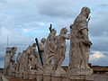 Statues on the facade of Saint Peter's Basilica.jpg