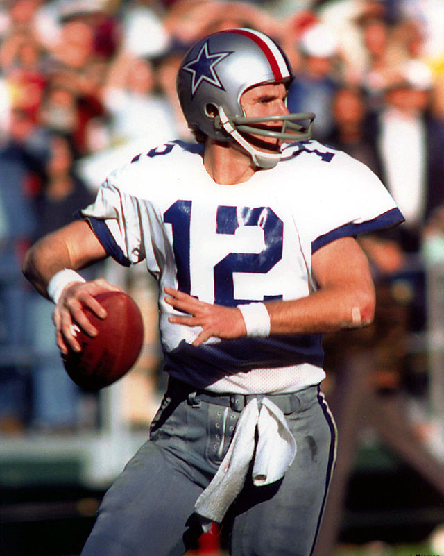 47053a865 Roger Staubach. Connected to  Dallas Cowboys ...