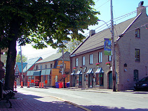 Sainte-Anne-de-Bellevue, Quebec - Sainte-Anne's main street runs along the shore.