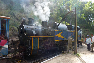 Rail transport in India - The Nilgiri Mountain Railway, one of the few running steam locomotives, in India