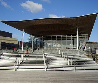 Richard Rogers - The steps leading up to the Senedd